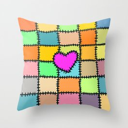 Cloth Clippings Throw Pillow