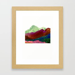 Abstract Mountain Range Collage Framed Art Print