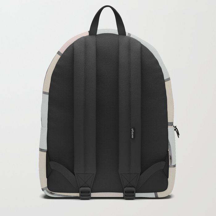 Tile pattern in soft pastel tones Backpack