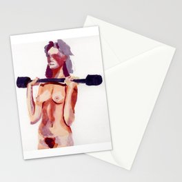 Weight Lifter Stationery Cards