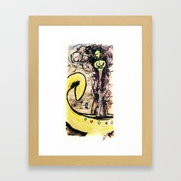Lamp Genie bursting out Framed Art Print