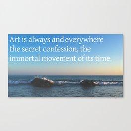 Secret Confession Canvas Print