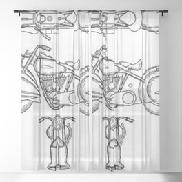 Henderson Motorcycle Prototype Streamliner Main Spec Pre-Patent Drawing Sheer Curtain
