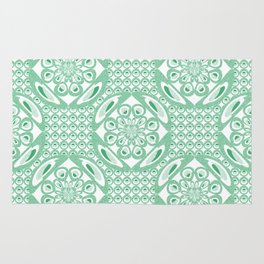 Mint green pattern Rug
