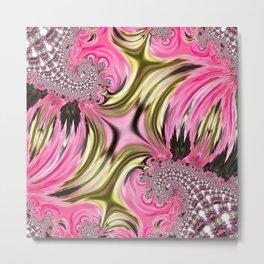 Mirror Flower Equinox Metal Print