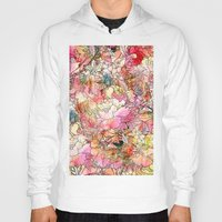 preppy Hoodies featuring Summer Flowers | Colorful Watercolor Floral Pattern Abstract Sketch by Girly Trend