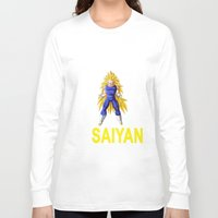 vegeta Long Sleeve T-shirts featuring Train In Saiyan Vegeta  by nicksoulart