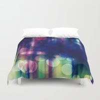 magical girl Duvet Covers featuring Magical Girl Blue by Misi