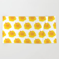 Hibiscus pattern_YI Beach Towel