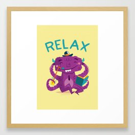 :::Relax Monster::: Framed Art Print
