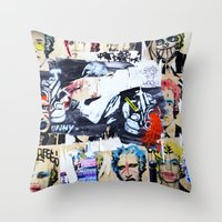 celebrity Throw Pillows featuring Celebrity by Paper Possible