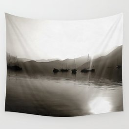 Gulets In Greyscale Wall Tapestry