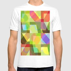 Colorful Truth. Shuffle 1 MEDIUM White Mens Fitted Tee