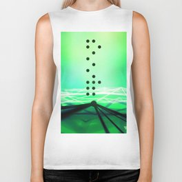 Green Abstract Passion Biker Tank