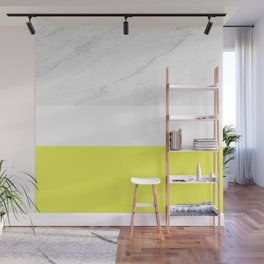 Marble yellow stripes Wall Mural