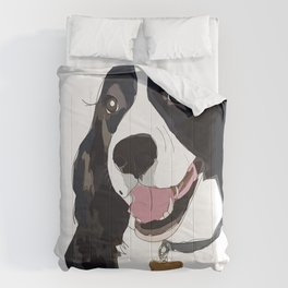 English Springer spaniel dog b/w Comforters