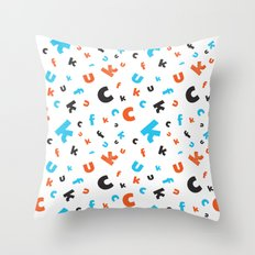Naughty letters Throw Pillow