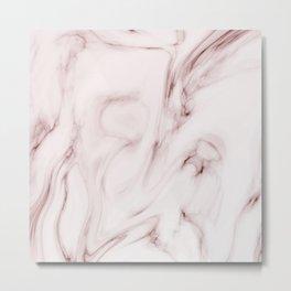 Red marble pattern Metal Print