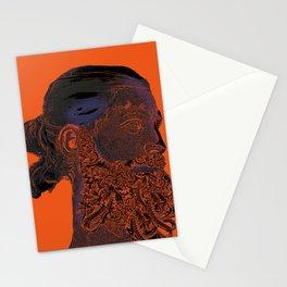 Hipster Neptune - orange Stationery Cards