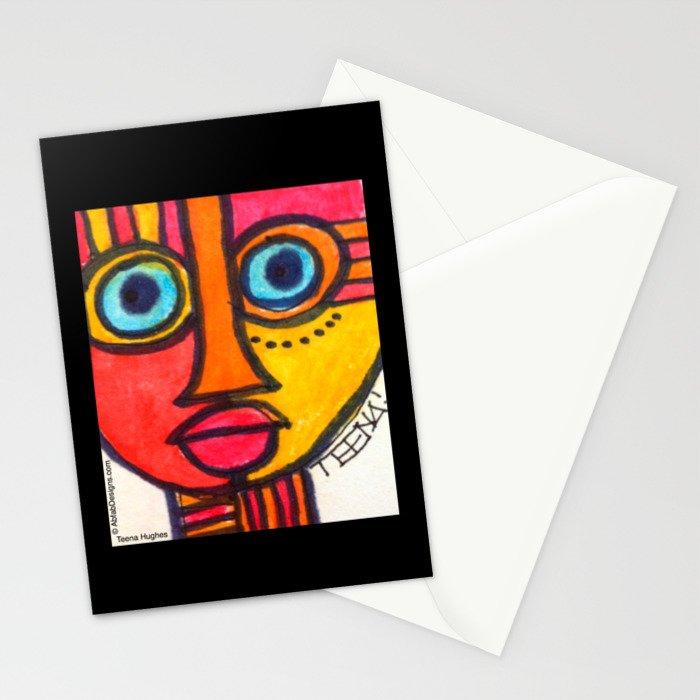 Vibrant Juju Mask #01 Stationery Cards