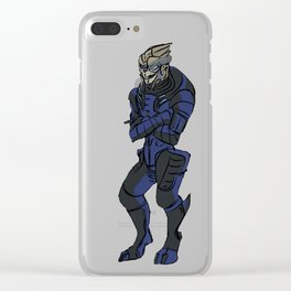 Everybody's favourite turian officer Clear iPhone Case