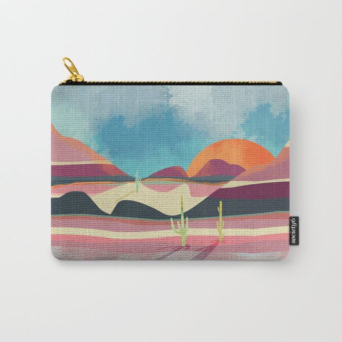 Pink Desert Glow Carry-All Pouch
