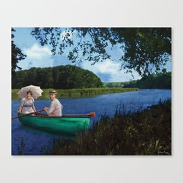 Wilsons' Canoe Canvas Print