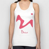 movie poster Tank Tops featuring Drive - Movie Poster by ahutchabove