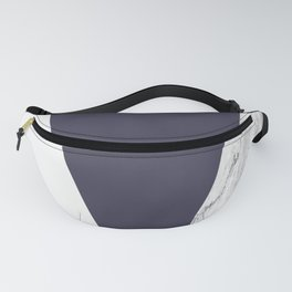 Marble Eclipse blue Geometry Fanny Pack