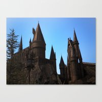 hogwarts Canvas Prints featuring Hogwarts by Blue Lightning Creative