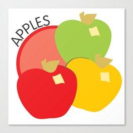 Apples Illustration Canvas Print