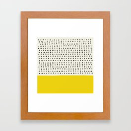 Sunshine x Dots Framed Art Print