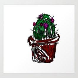 Jan the Cactus Art Print