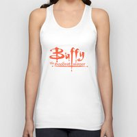 buffy Tank Tops featuring Buffy the Hoodrat Slayer by Domonique Brown