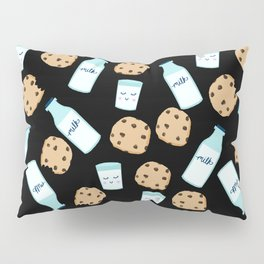 Milk and cookies pattern cute kids decor boys or girls room design Pillow Sham