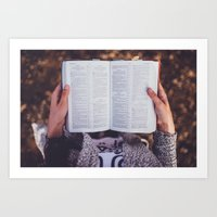 bible Art Prints featuring Bible by Johnny Frazer