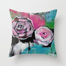 Street Floral II (by912-StreetDreams) Throw Pillow