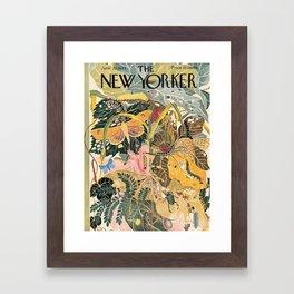 The New Yorker Vintage Cover // 1 Framed Art Print