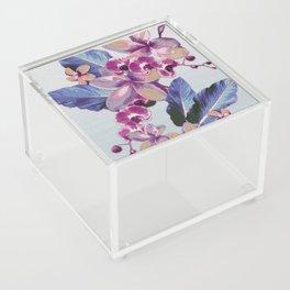 Tropical Vintage Plumerias Acrylic Box