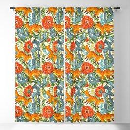 Art Nouveau Foxes  Blackout Curtain