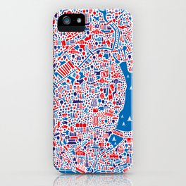 Hamburg City Map Poster iPhone Case