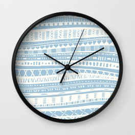 Sweater Weather in Blue Wall Clock