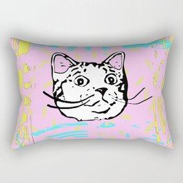 Amazed Cat Rectangular Pillow