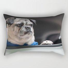Pug Ride Rectangular Pillow