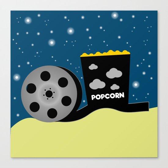Movie night  Canvas Print