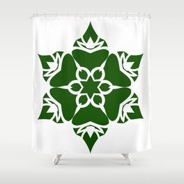 Green Ornament Shower Curtain