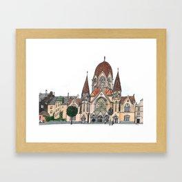 Königsberg Synagogue Framed Art Print