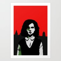 Oxford Girl Art Print