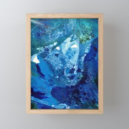 Environmental Blue Leaves, Tiny World Collection Framed Mini Art Print
