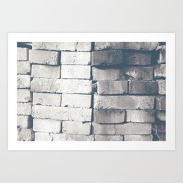 aged used clinker bricks faded Art Print
